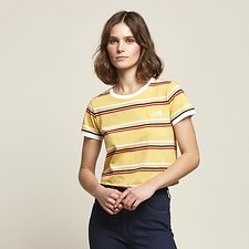 Picture of RAINBOW STRIPE OUTLAND TEE BARLEY
