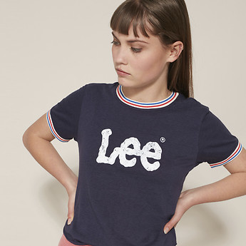 Image of Lee Jeans Australia Faded Navy TIPPED OUTLAND TEE FADED NAVY