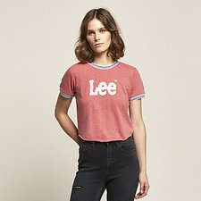 Image of Lee Jeans Australia Washed Red TIPPED OUTLAND TEE WASHED RED