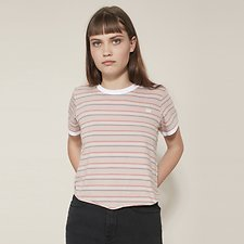 Picture of OUTLAND TRIPLE STRIPE TEE SMOKEY ROSE