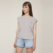 Picture of NO BRAINER 90'S STRIPE TEE SMOKEY ROSE