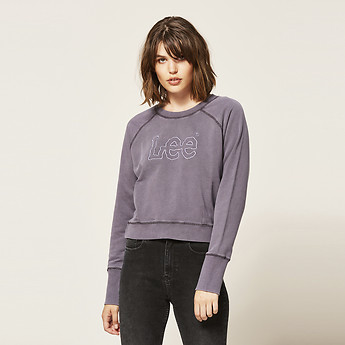 Image of Lee Jeans Australia Aubergine DART OUT LOGO CREW BURNT AUBERGINE