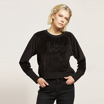 Image of Lee Jeans Australia Black   VELOUR DART OUT CREW BLACK