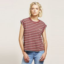 Picture of NO BRAINER SKINNY STRIPE TEE BRGY STRIPE