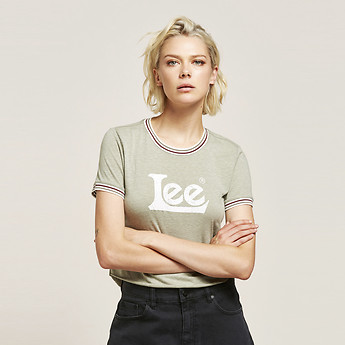 Image of Lee Jeans Australia Laurel TIPPED OUTLAND TEE LAUREL