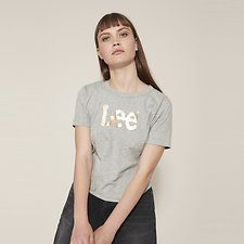 Picture of OUTLAND FOIL LOGO TEE GREY MARLE
