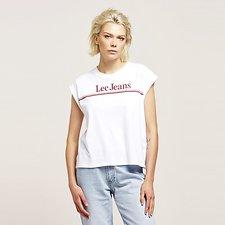 Image of Lee Jeans Australia White 70S STRIPE NO BRAINER TEE WHITE