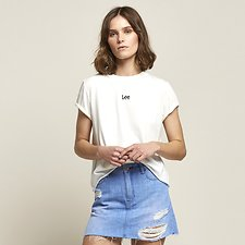 Picture of ROLLED NO BRAINER TEE VINTAGE WHITE