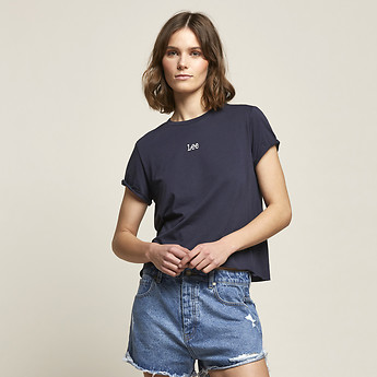Image of Lee Jeans Australia Trench Navy ROLLED NO BRAINER TEE TRENCH NAVY