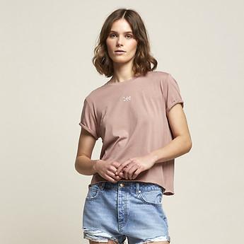 Image of Lee Jeans Australia Rose Mist ROLLED NO BRAINER TEE ROSE MIST