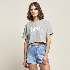 Image of Lee Jeans Australia Grey Marle RACE ON TEE GREY MARLE