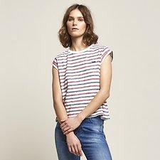 Image of Lee Jeans Australia White Stripe SO FINE NO BRAINER TEE WHITE STRIPE