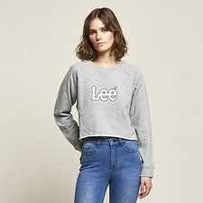 Image of Lee Jeans Australia Grey Marle DART OUT SPORT CREW GREY MARLE