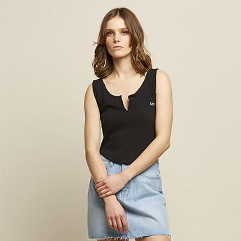 Image of Lee Jeans Australia Black   KATE RIB CROP BLACK