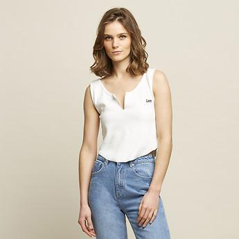 Image of Lee Jeans Australia Vintage Black  KATE RIB CROP VINTAGE WHITE