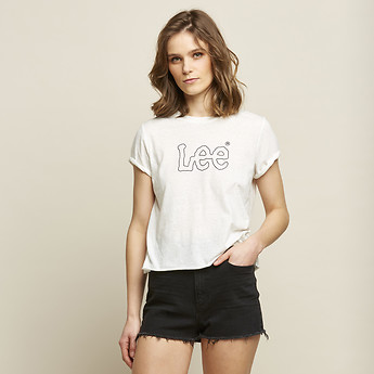 Image of Lee Jeans Australia Vintage White VAPOUR ROLLED TEE VINTAGE WHITE