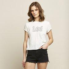 Image of Lee Jeans Australia Vintage Black  VAPOUR ROLLED TEE VINTAGE WHITE