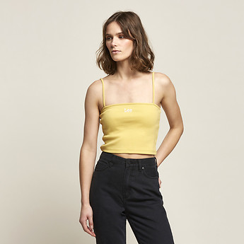 Image of Lee Jeans Australia Yellow BANDEAU CAMI YELLOW