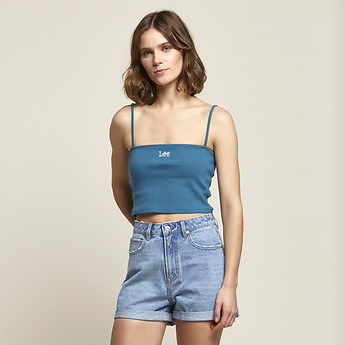 Image of Lee Jeans Australia Washed Teal BANDEAU CAMI WASHED TEAL