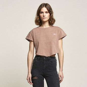 Image of Lee Jeans Australia Rose Mist CROP SCOOP BOYFRIEND TEE ROSE MIST