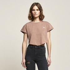 Image of Lee Jeans Australia Rose Mist CROP SCOOP BOYFRIEND TEE ROSE MIST