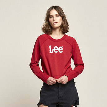 Image of Lee Jeans Australia 80s Red MIDWAY DART OUT CREW 80S RED