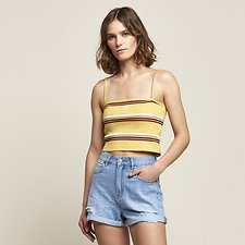 Image of Lee Jeans Australia Yellow STRIPE BANDEAU CAMI YELLOW