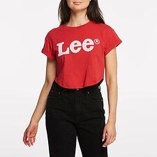 Image of Lee Jeans Australia Scarlet VINTAGE CROP SCOOP TEE SCARLET