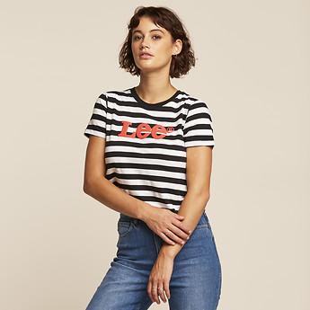 Image of Lee Jeans Australia Black / White ATOMIC OUTLAND TEE BLACK / WHITE