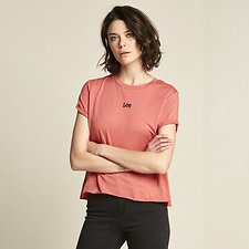 Image of Lee Jeans Australia Rose ROLLED NO BRAINER TEE ROSE