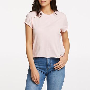 Image of Lee Jeans Australia Powder Pink ROLLED NO BRAINER TEE POWDER PINK