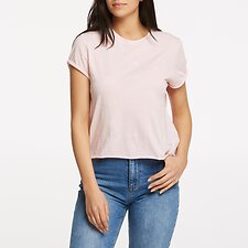 Image of Lee Jeans Australia Powder Pink ROLLED NO BRAINER TEE POWDER PINK