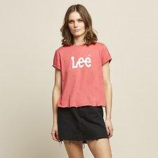 Image of Lee Jeans Australia GERANIUM ROLLED LOGO TEE GERANIUM