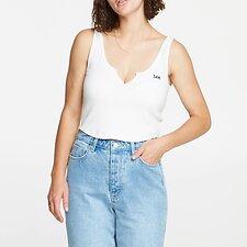 Image of Lee Jeans Australia Vintage Black  HAILEY RIB SINGLET VINTAGE WHITE