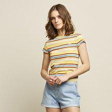 Image of Lee Jeans Australia Primrose SKINNY STRIPE TEE PRIMROSE