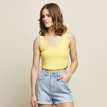 Image of Lee Jeans Australia Primrose PYPER RIB SINGLET YELLOW
