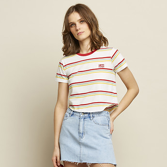 Image of Lee Jeans Australia Vintage White OUTLAND STRIPE TEE VINTAGE WHITE