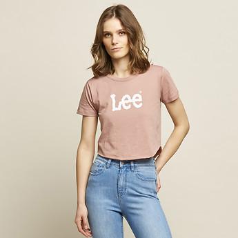 Image of Lee Jeans Australia Rose Mist OUTLAND CRACKLE TEE ROSE MIST
