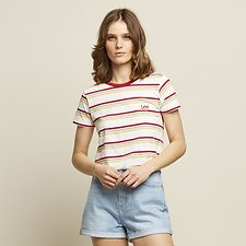 Image of Lee Jeans Australia White Stripe OUTLAND STRIPE TEE WHITE STRIPE