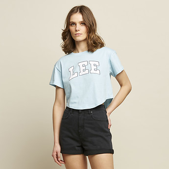 Image of Lee Jeans Australia Mint Blue COLLEGE CROP SCOOP MINT BLUE
