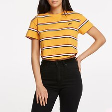 Image of Lee Jeans Australia CLEMENTINE BELLA CROP SCOOP TEE CLEMENTINE