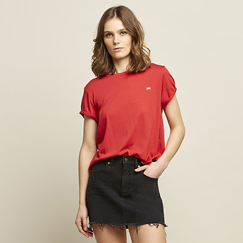 Image of Lee Jeans Australia Scarlet ROLLED LOGO NO BRAINER SCARLET