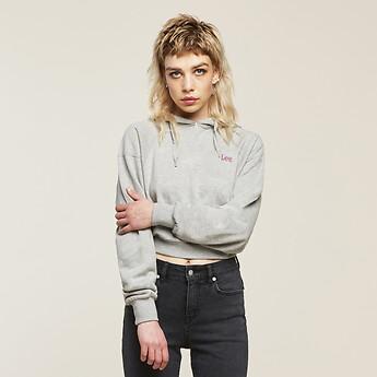 Image of Lee Jeans Australia Grey Marle STARLIE HOODIE GREY MARLE