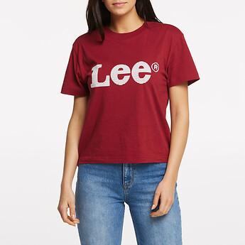 Image of Lee Jeans Australia Merlot VINTAGE LOGO TEE MERLOT