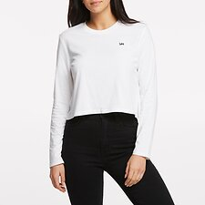 Image of Lee Jeans Australia White   NO BRAINER CROP LS TEE WHITE