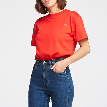 Image of Lee Jeans Australia Red CLASSIC TEE RED