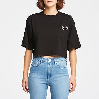 Image of Lee Jeans Australia Black   BAGGY CROP TEE BLACK