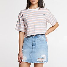 Image of Lee Jeans Australia PEACHY KEEN BAGGY CROP TEE PEACHY KEEN