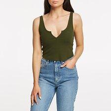 Image of Lee Jeans Australia Khaki HAILEY SINGLET KHAKI