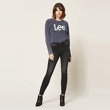Image of Lee Jeans Australia Black Spectrum HIGH LICKS CROP ZIP BLACK SPECTRUM